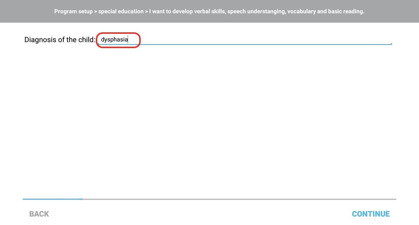 Step 4 - enter diagnose