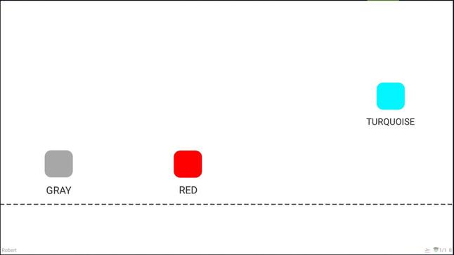 Krok 10 - celkový počet objektů, které vidíte najednou, se sníží na 3