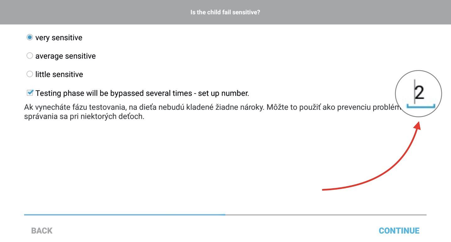 Toto číslo definuje, koľkokrát bude testovacia fáza vynechaná
