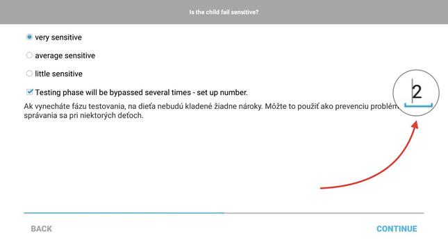 Toto číslo určuje, kolikrát bude testovací fáze vynechána