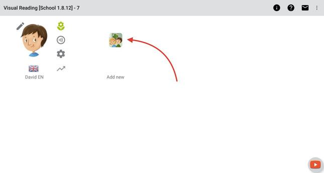 Krok 1 - kliknite na ikonu Nový profil