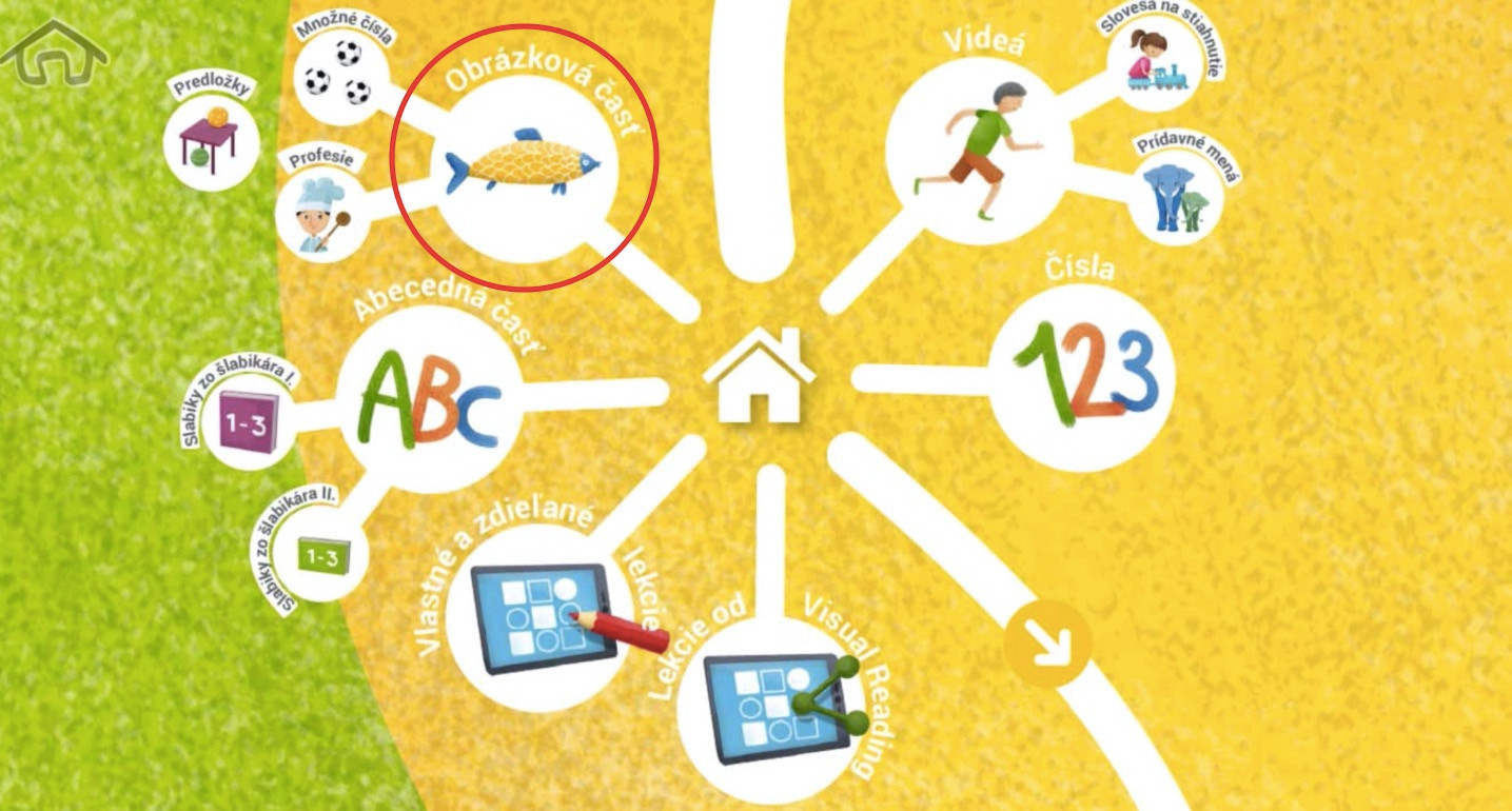 Krok 2 - kliknite na Obrázkovú časť