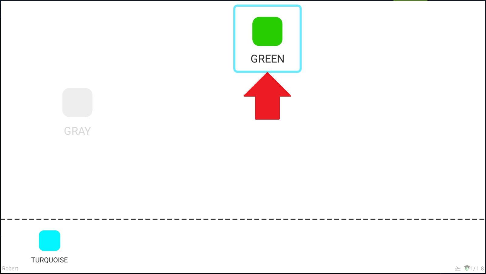 Krok 11 - takto program zobrazuje správnu odpoveď