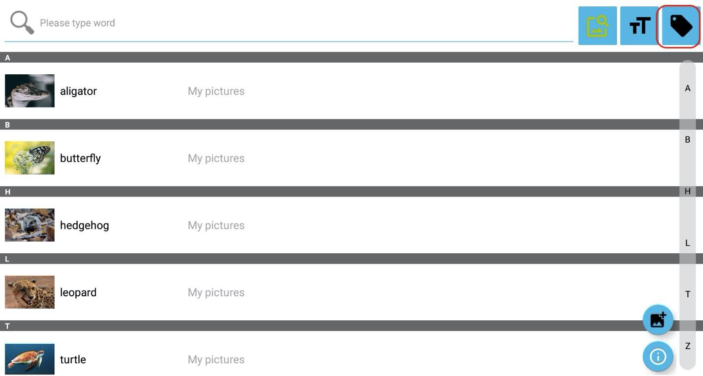 Krok 3 - kliknite na ikonu kategórií