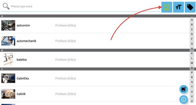 Krok 5 - klikněte na ikonu Filtr