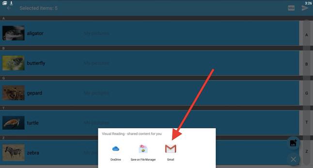 Krok 7 - vyberte Gmail alebo inú podobnú aplikáciu