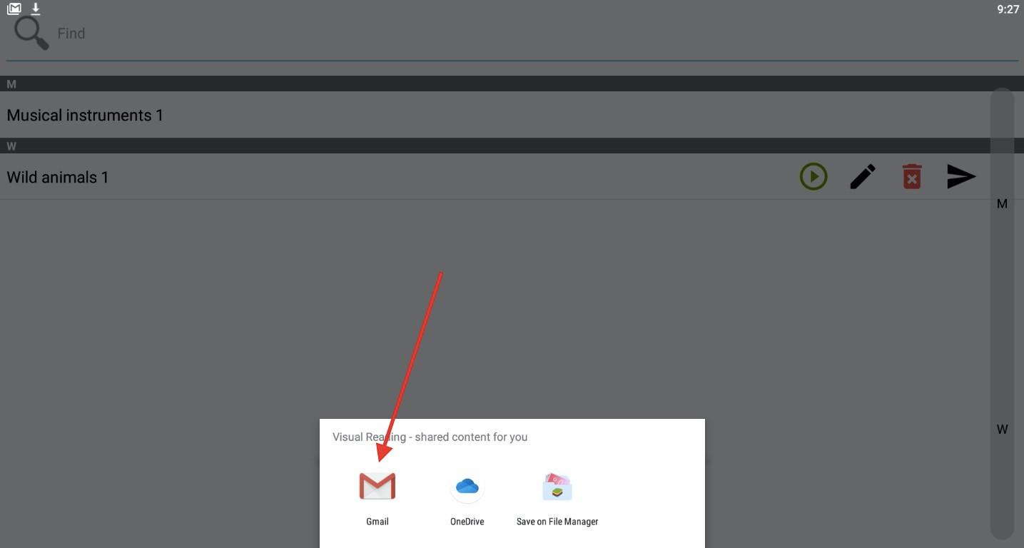 Krok 4 - vyberte Gmail alebo podobnú aplikáciu