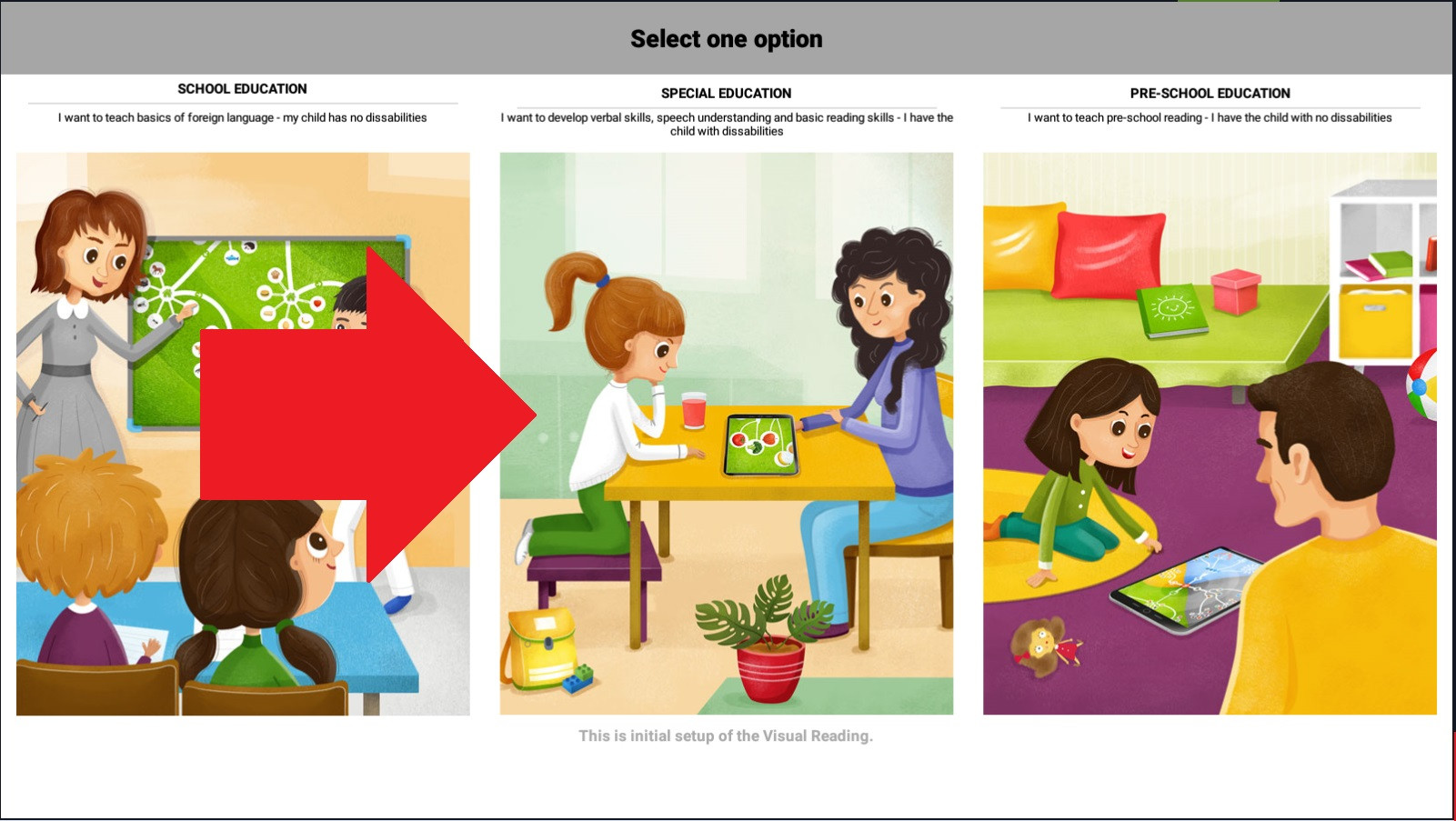 Step 3 - choose Special Education
