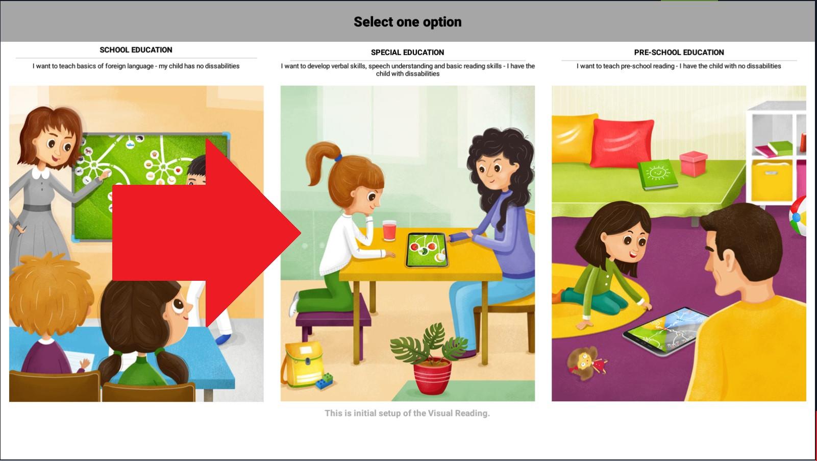 Krok 3 - vyberte Špeciálnu pedagogiku