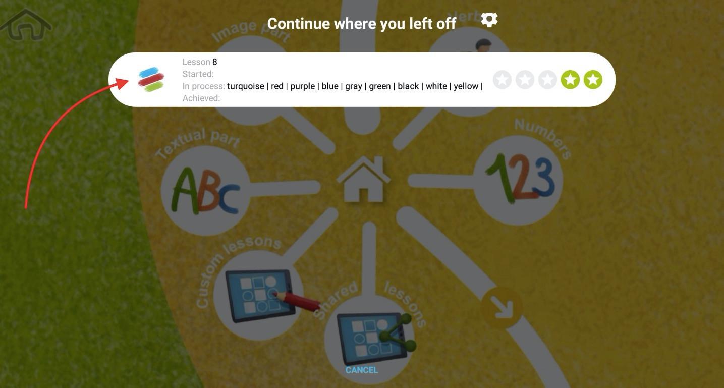 Run the lesson 2 - click on the lesson icon