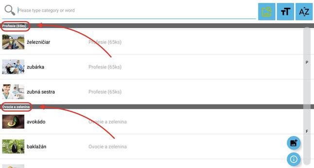 Krok 7 - nyní můžete vidět obrázky seřazené podle modulů