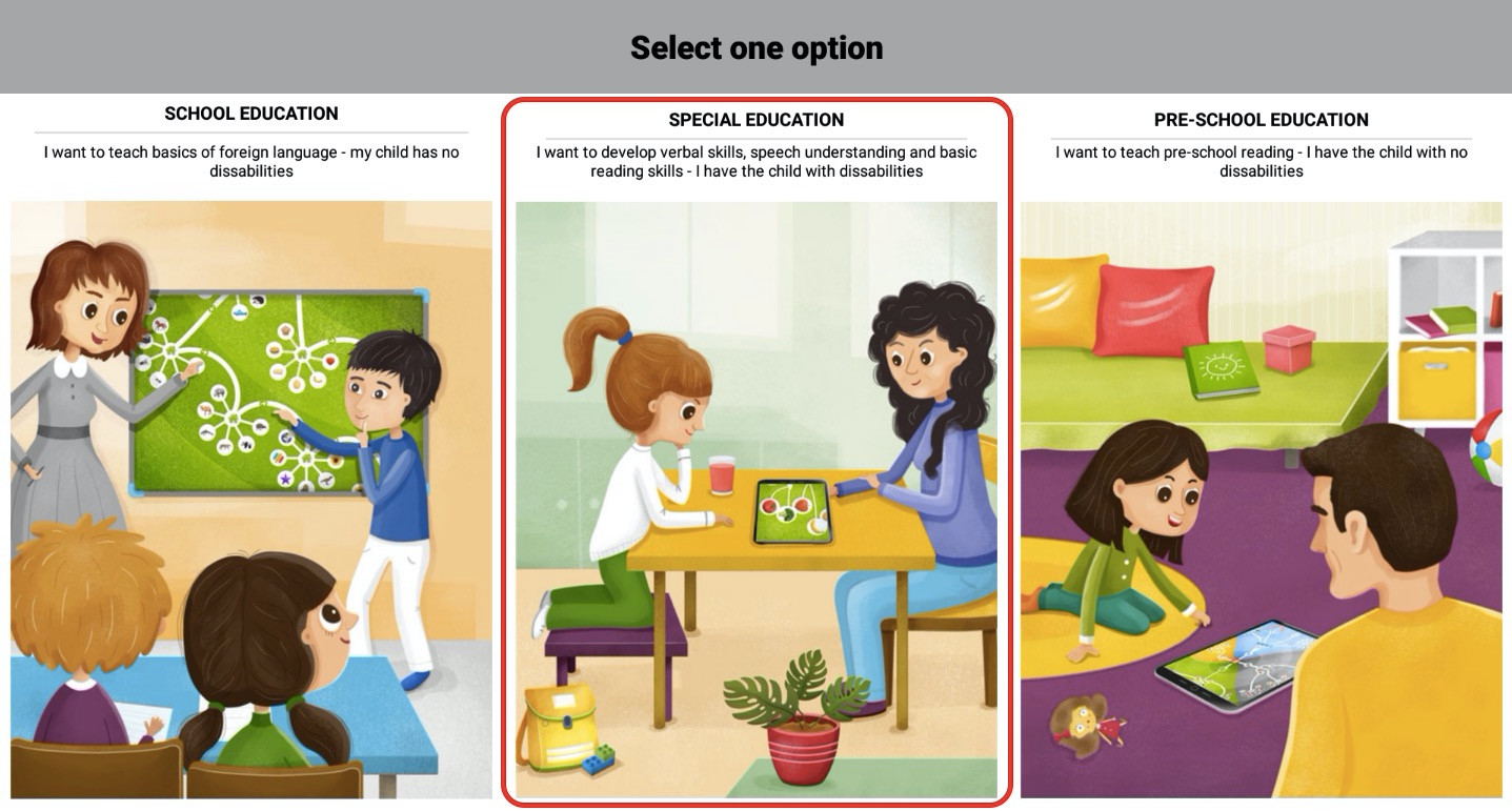 Step 3 - click Special education