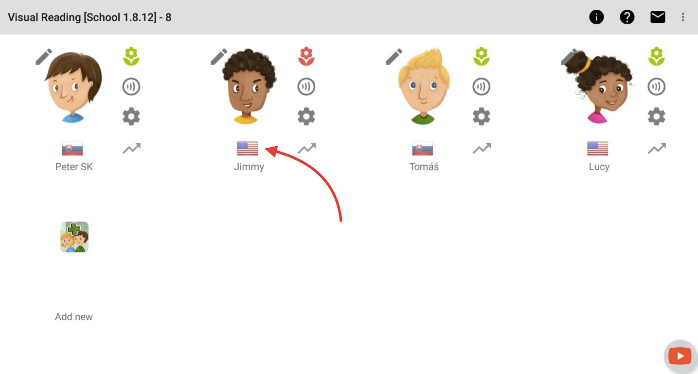 Step 1 - click Language icon