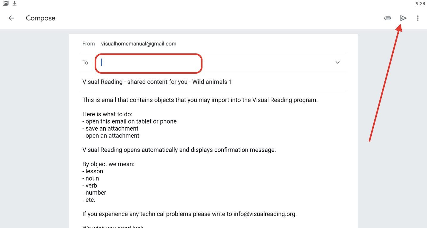 Krok 5 - zadajte cieľový e-mail