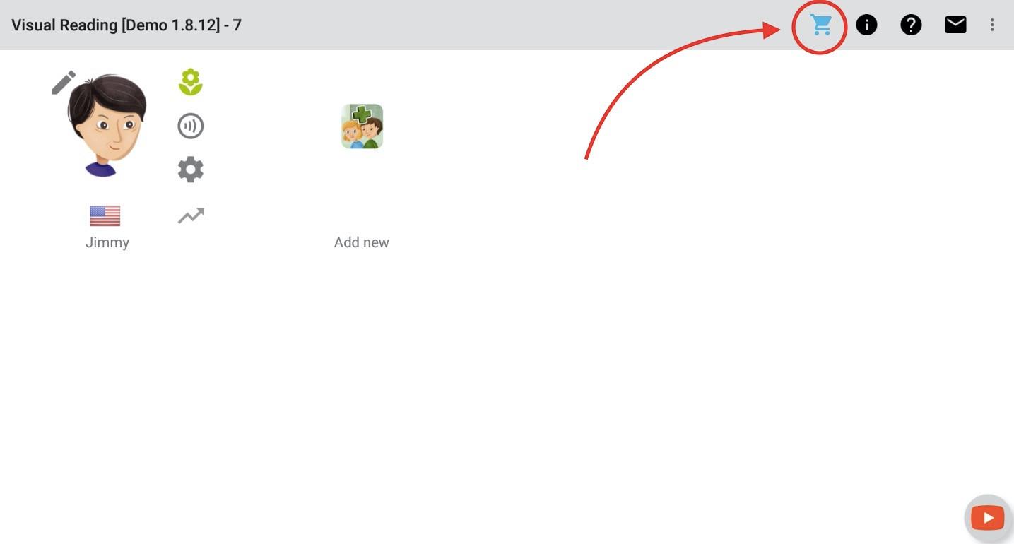 Možnost 1 - klikněte na ikonu Koupit