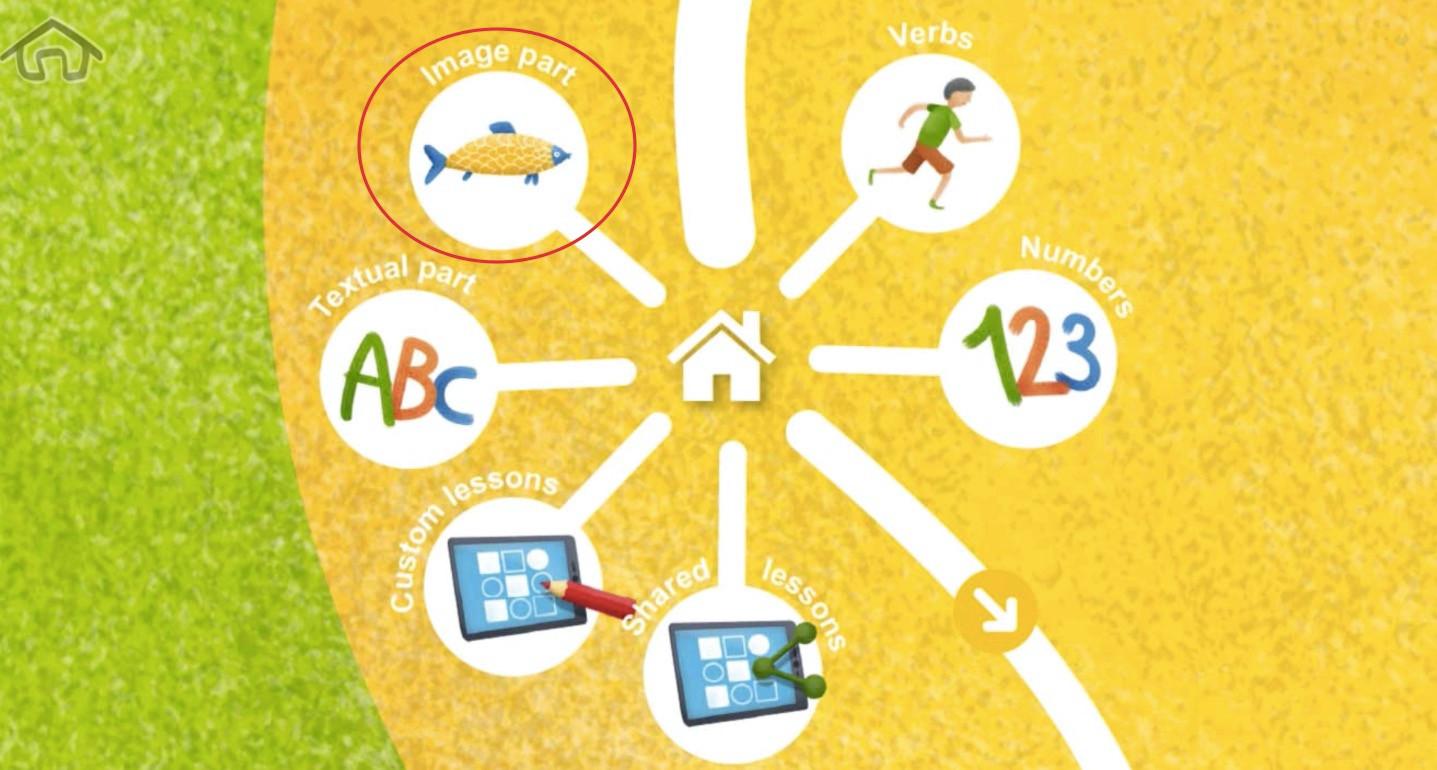 Krok 1 - kliknite na Obrázková časť