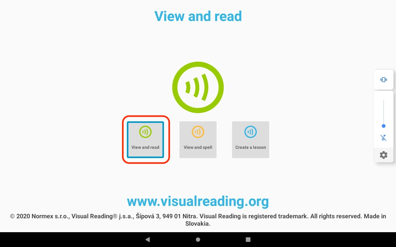 Now View and read mode is active