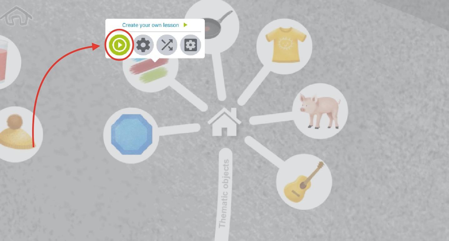 Run the lesson 1 - click on the lesson icon