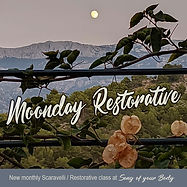 Monday 'Moondays' Restorative is a regular monthly Scaravelli/Restorative fusion class with a little gentle movement.