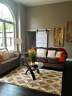 Additional colors and right accent choices makes any room warm and inviting.