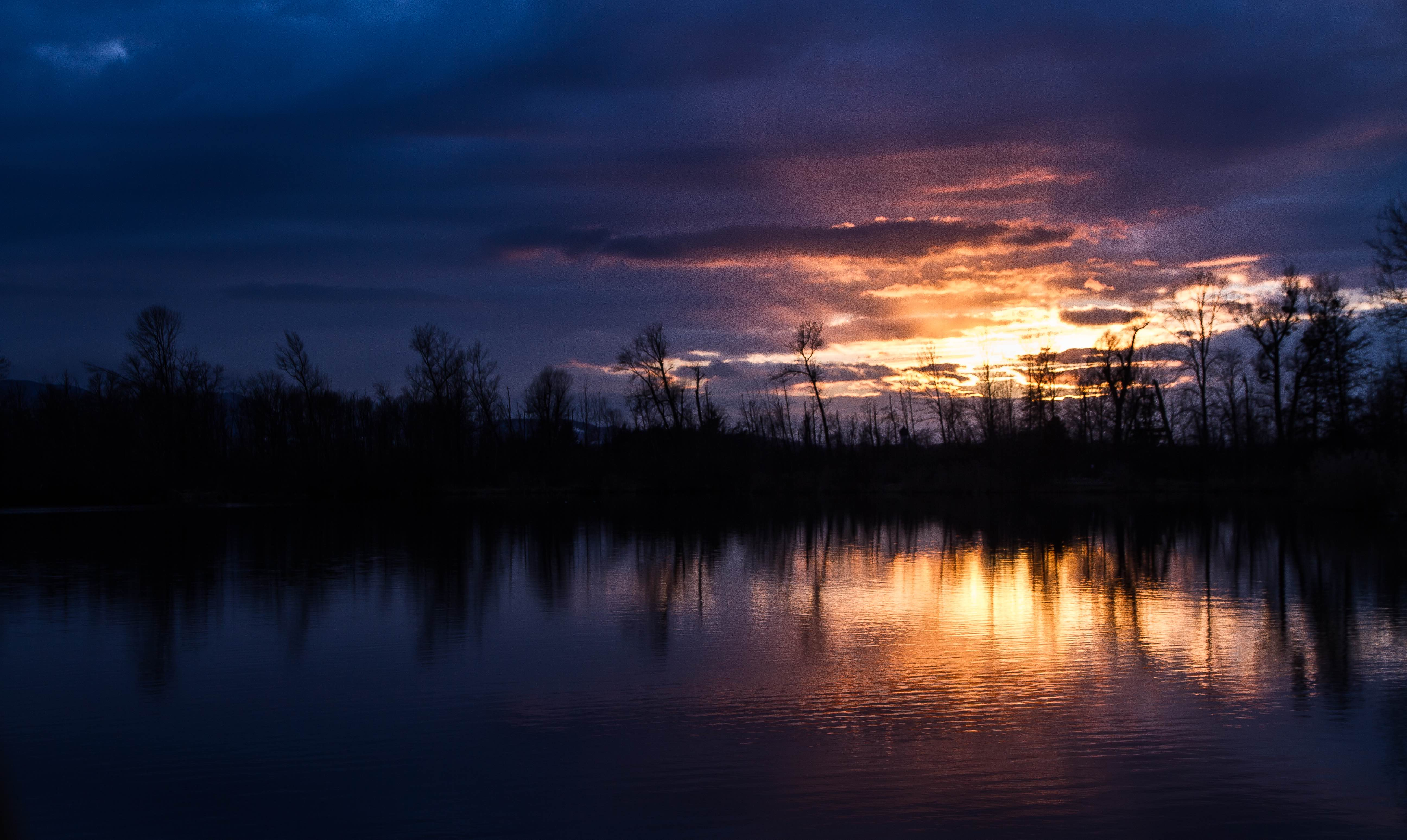 Happinger-Au See Sonnenuntergang Klein