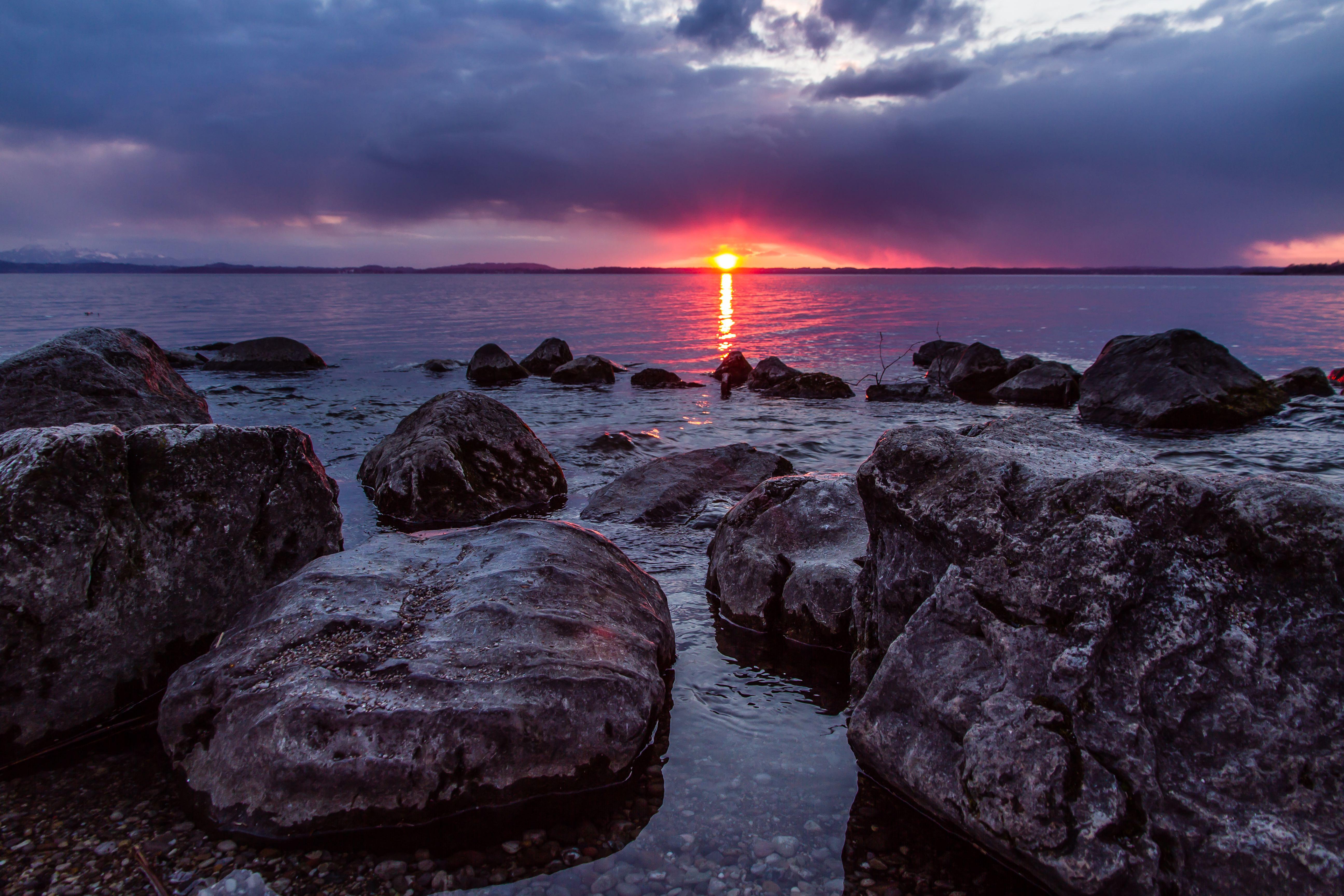 Chieming Sonnenuntergang 1 Klein