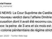 La France appelle à la libération immédiate de Y. Dmitriev après sa condamnation à 13 ans de prison