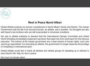 N. Afkari exécuté: peu de réactions d'officiels français, réactions fermes des ONG et monde du sport
