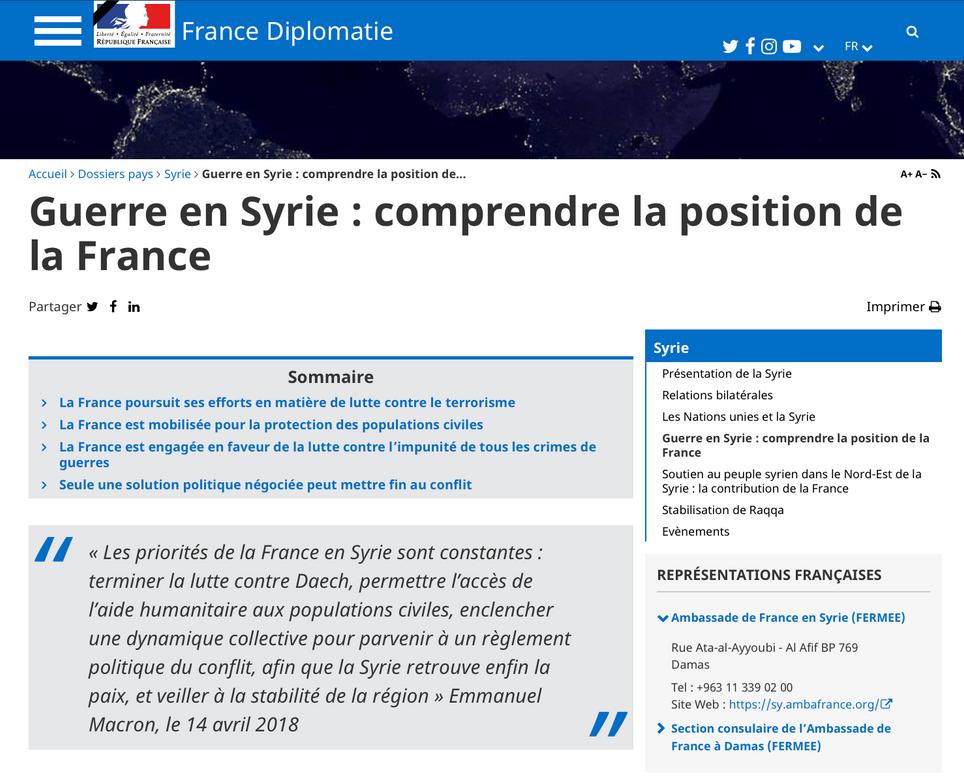 Z. Majed: le repositionnement de la France en Syrie est « un défi » pour E. Macron