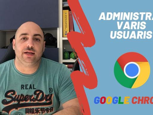 Varis usuaris a Google Chrome