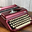 Thumbnail: Royal Diana Manual Typewriter in Custom Magenta Candy Coat over Metallic!
