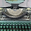 Thumbnail: 1953 Underwood De Luxe Green Two Tone and Gold Manual Typewriter Restored