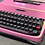 Thumbnail: Cursive! Custom Painted Pink and liquid gold light shift Lettera 32 Typewriter