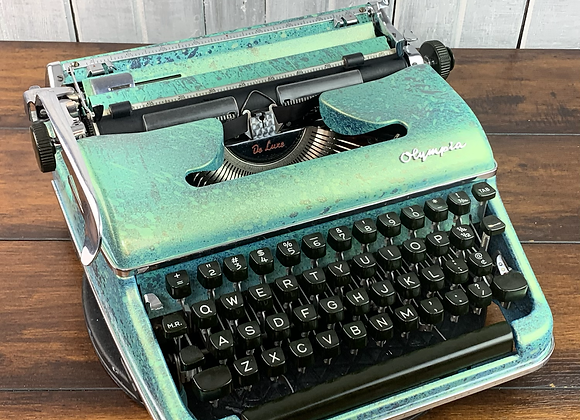 Custom painted colorshifting reconditioned Olympia SM3 Manual Typewriter
