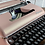 Thumbnail: Cursive! Custom Painted Blush with gold pearl finish. Olympia SM3 Typewriter