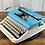 Thumbnail: Custom Painted Colorshift Tobaggo Bay and Pearl Olympia SM5 Manual Typewriter