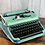 Thumbnail: Custom painted colorshifting reconditioned Olympia SM3 Manual Typewriter