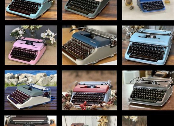 Give a gift of a custom made Olympia SM3 typewriter for Christmas! They pick col