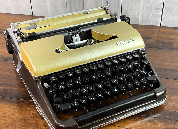 Custom Gold & Brown Bronze Olympia SM3 Manual Typewriter Reconditioned Perfect