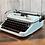 Thumbnail: Custom Blue Pearl Olympia SM3 Manual Typewriter Reconditioned Perfect