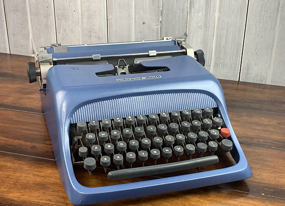Cursive! Olivetti Studio 44 Manual Typewriter & Case! Reconditioned and Painted