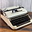Thumbnail: Custom Pearl Ivory & White Olympia SM 4 Manual Typewriter Reconditioned Perfect