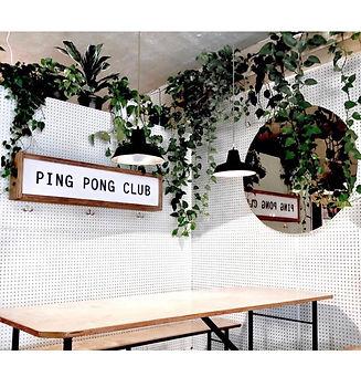 inside ping pong club