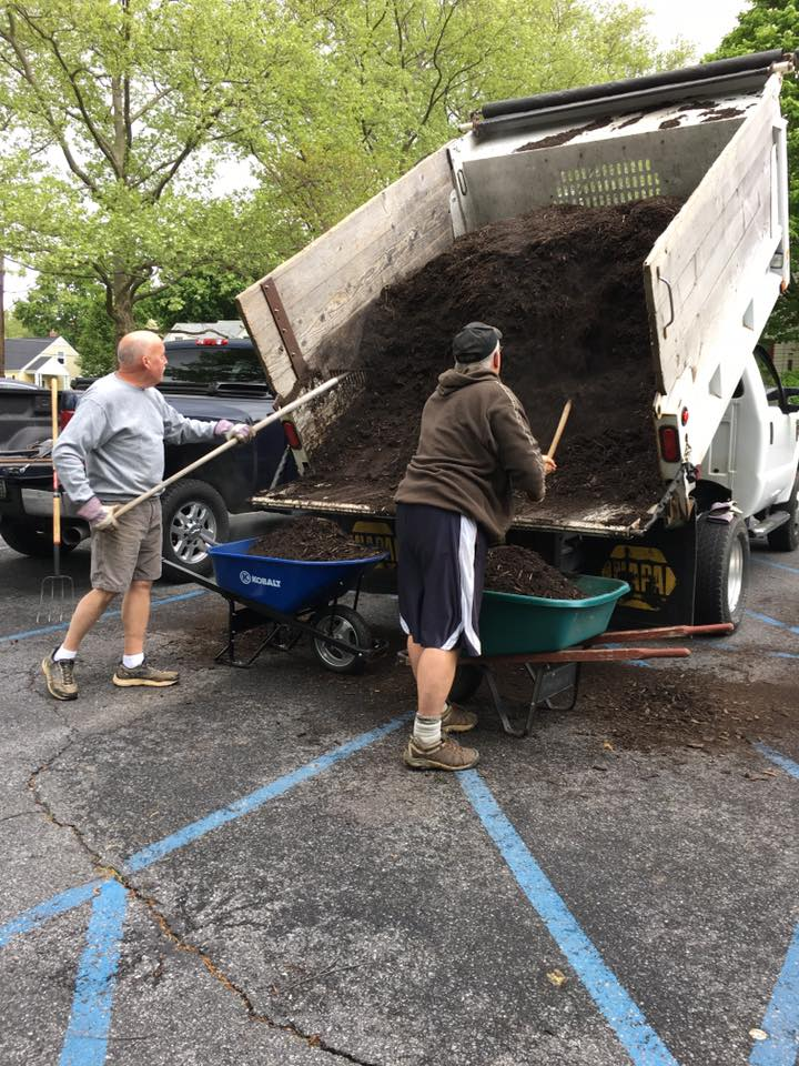 Brian and Geoff Moving Mulch