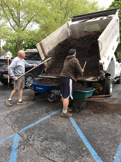Brian and Geoff Moving Mulch