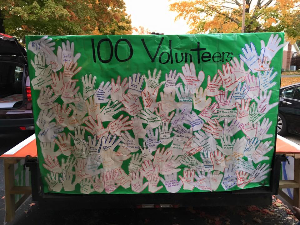 100+ Volunteers