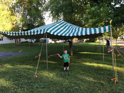 Tent's Up