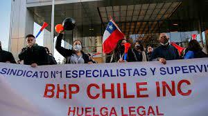 Sindicato minero BHP en Chile rechaza acuerdo contractual