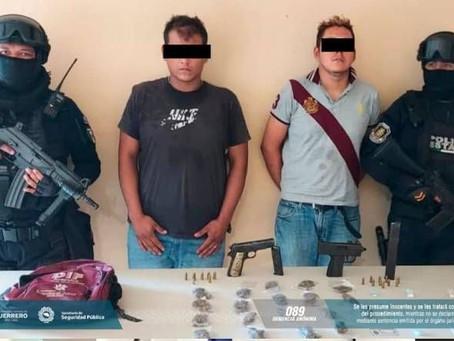Policía Estatal detuvo a dos personas en Acapulco