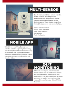 Sonitrol Multi-Sensor, Sonitrol Mobile App, Sonitrol 24-7 Monitoring